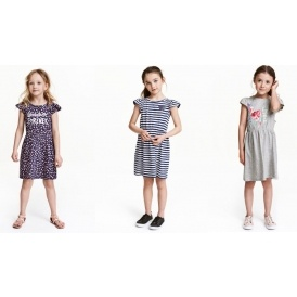 Dress With Frilled Sleeves £3.99 @ H&M