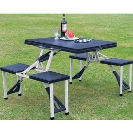 Folding Camping Table And Four Stools £19.99