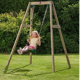 Plum Wooden Single Swing Set £67.95 Del