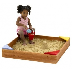 Plum Junior Wooden Sandpit £15