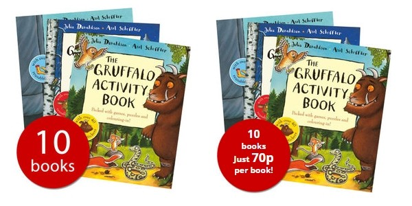 The Gruffalo Activity Collection 10 Books For £6.99 @ The Book People