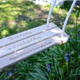 Personalised Classic Wooden Swing £30
