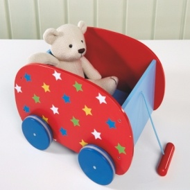Wooden Pull-Along Toy Box £7.50 @ Asda