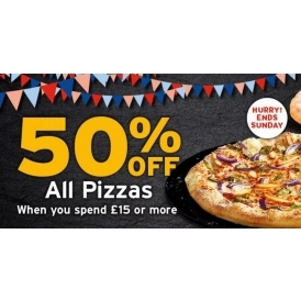 50% Off Pizzas @ Pizza Hut