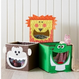 Set of 3 Animal Storage Stacking Boxes