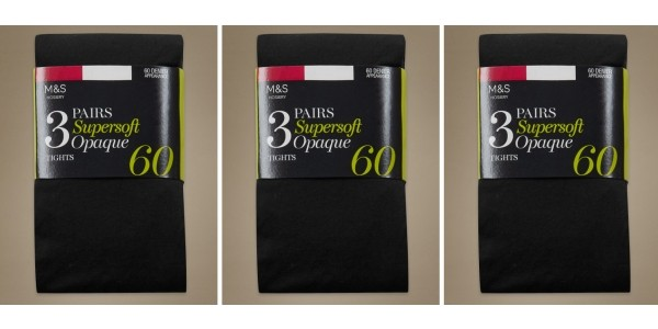 GLITCH! Three Pairs Of Tights Completely FREE For Sparks Cards Holders @ M&S (Expired)