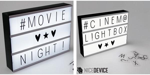 Cinema LED Lightbox Just £9.99 + Free C&C @ Home Bargains