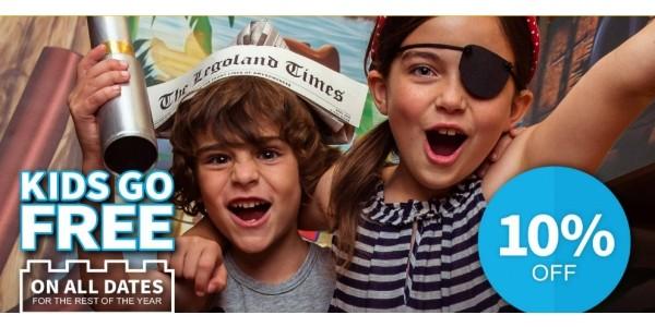 Kids Go FREE Plus Extra 10% Off Legoland Windsor Holidays