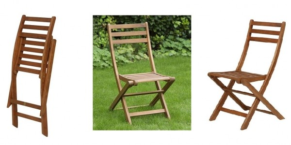 Windsor Wooden Folding Garden Bistro Chair £10 @ Tesco Direct