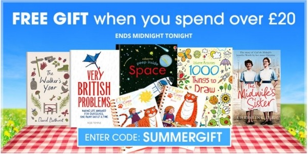 FREE Gift Worth Up To £12.99 When You Spend £20 @ The Book People
