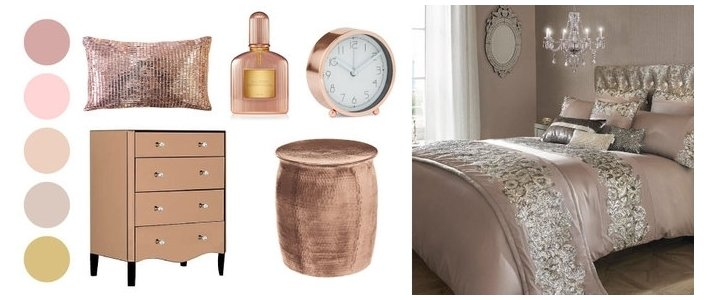 Rose gold bedroom ideas for Bedroom ideas rose gold