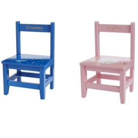 Children 39 s personalised wooden chairs delivered studio for Kids chair with name