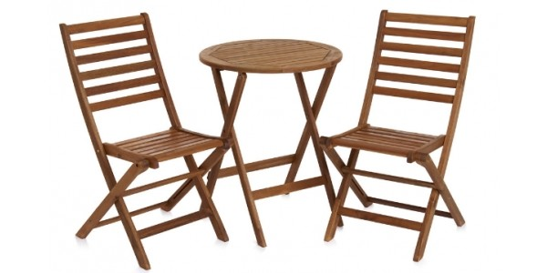 Wooden Bistro Set £25 @ Wilko