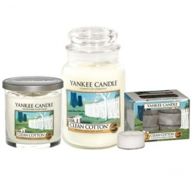 yankee candle clean cotton bundle 25. Black Bedroom Furniture Sets. Home Design Ideas