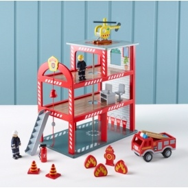 Wooden Fire Station & Accessories £20