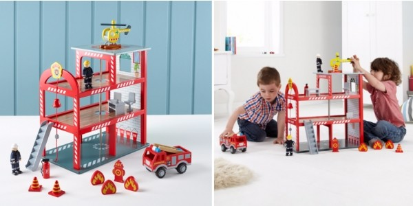 Wooden Fire Station & Accessories £20 (was £35) @ Asda George