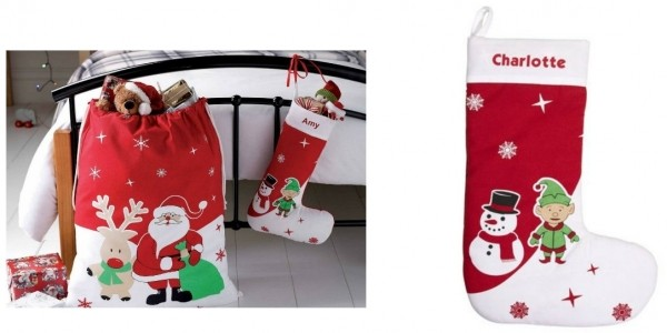 Personalised Giant Santa Sack With FREE Elf Stocking £3.99 Delivered @ Studio