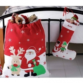 Santa Sack & Personalised Stocking £2.39