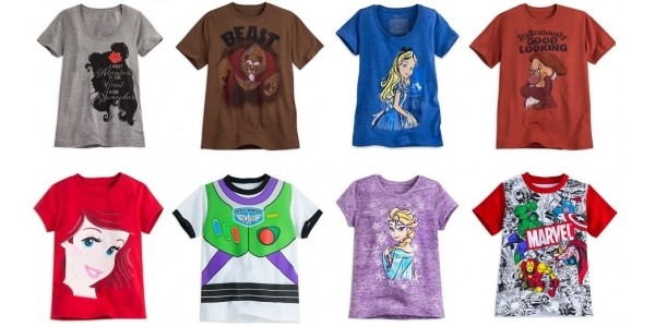 Half Price Selected Kids & Adult T-shirts @ The Disney Store