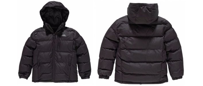 Trespass Boys Black Padded Jacket