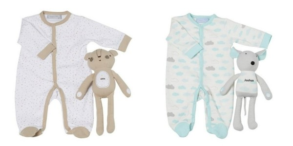 Baby's Sleepsuit With Personalised Toy £7.99 Delivered (With Code) @ Studio
