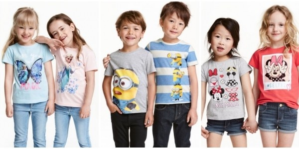 Character T-shirts 2 Pack £6.99 (was £9.99) @ H&M