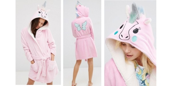 Ladies Unicorn Robe Including Petite & Curve Sizes @ ASOS