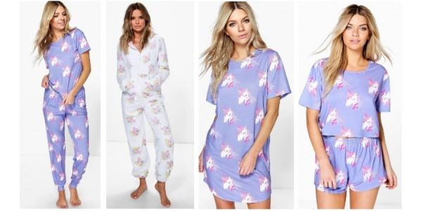Ladies Unicorn Nightwear and Loungewear @ Boohoo