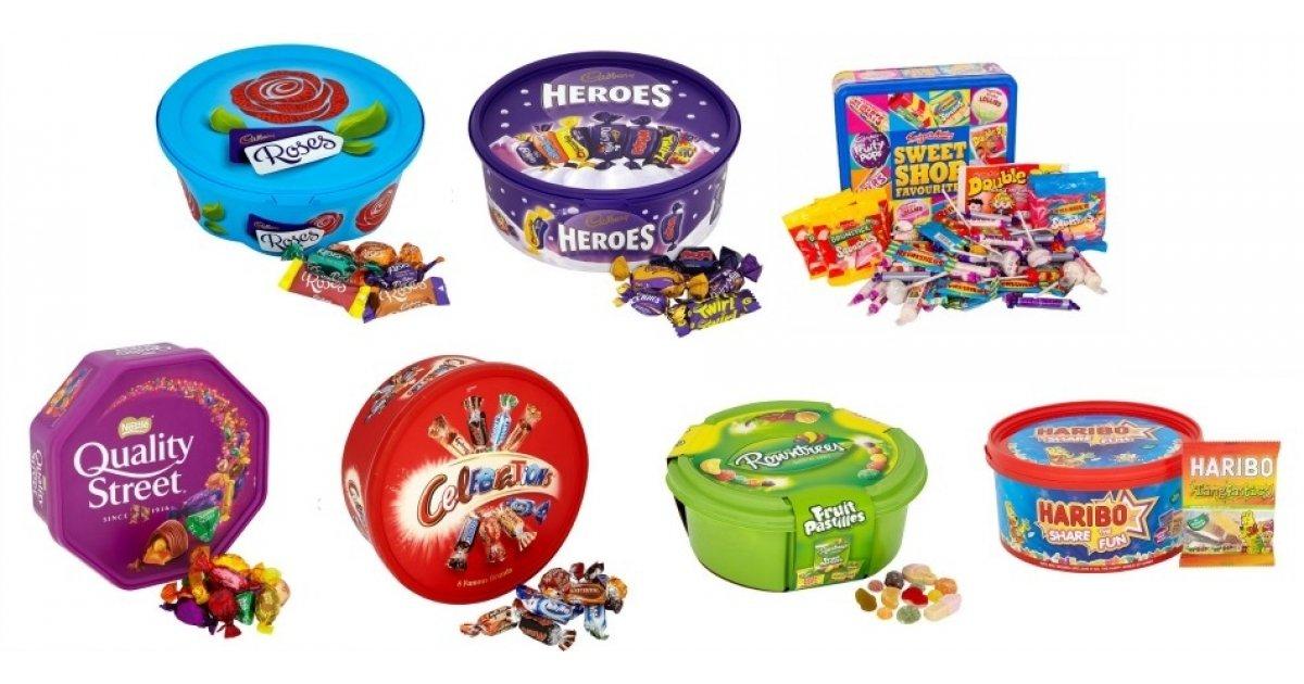 Christmas Chocolate Tubs 2 For 163 7 Tesco