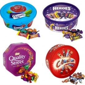 Christmas Chocolate Tubs 2 for £7