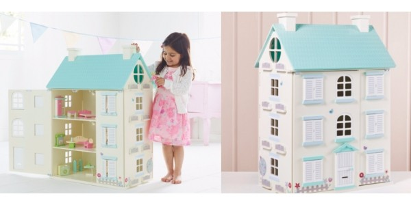 Wooden Light Up Dolls House £40 at Asda George