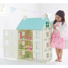 Wooden Light Up Dolls House £40