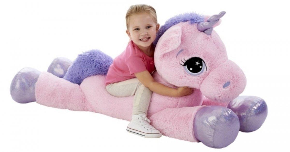 animal alley pink 45 u0026quot  unicorn soft toy  u00a329 98  was  u00a359 99    toys r us