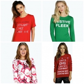 Christmas Clothing From £2 @ Boohoo.com