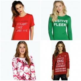 Christmas Clothing From £2 @ Boohoo.com