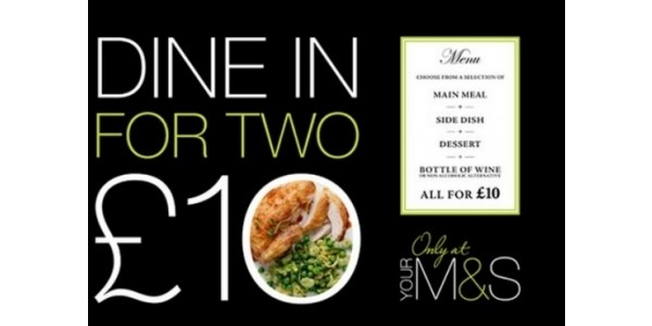 Dine In Meal Deal With Wine £10 @ Marks And Spencer