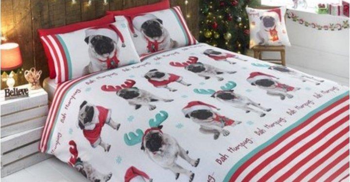 Christmas Pug Duvet Sets From 163 4 99 Studio