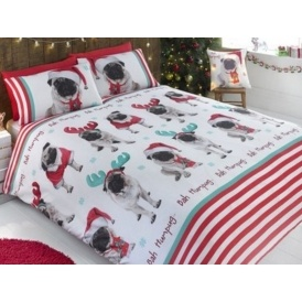 Christmas Pug Duvet Sets From £4.99 @ Studio