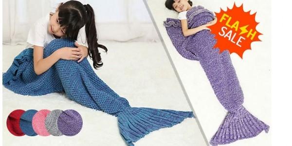 Children's Mermaid Tail Blankets £5.99 (+£3.99 Del) @ GoGroopie