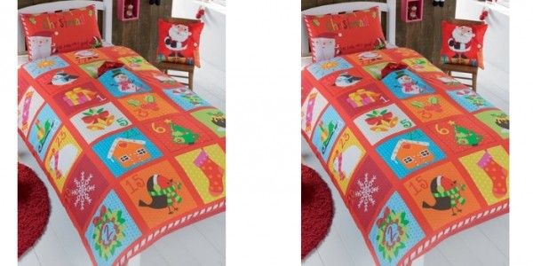 Personalised Advent Single Duvet Cover Set £9.99 @ Studio