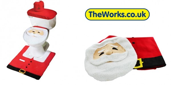 Santa Toilet Seat Cover Set £4.80 (With Code) @ The Works