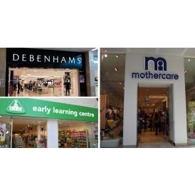 Debenhams, Mothercare & ELC End Free C&C