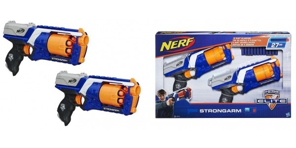 Nerf N-strike Elite Strongarm Blaster (Twin pack) £13 @ Tesco Direct