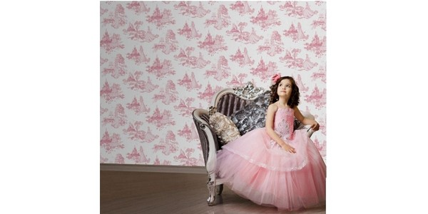 Disney Princess Pink Toile Wallpaper (was £13) Now £8 @ Debenhams