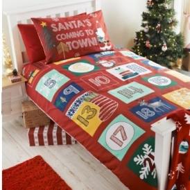 Advent Single Christmas Duvet Set £14