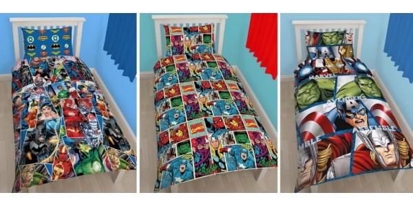 Marvel & DC Comics Duvet Sets From £10.80 @ Very