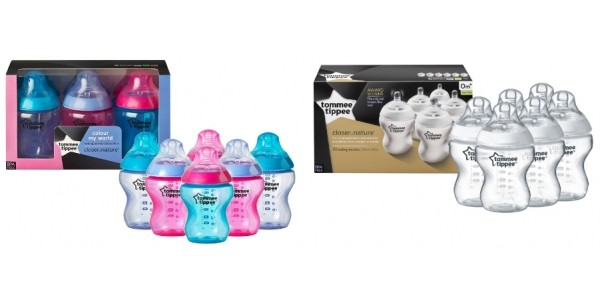 Tommee Tippee Closer To Nature 260ml Feeding Bottles 6 Pack £10