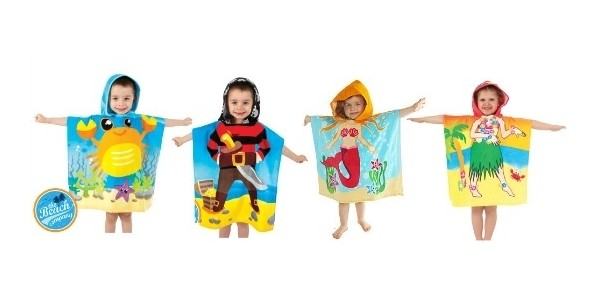 Kids Hooded Towel Ponchos: £3.99 each @ Home Bargains