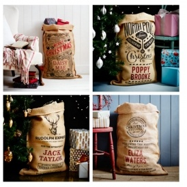 64% Off Personalised Hessian Santa Sacks