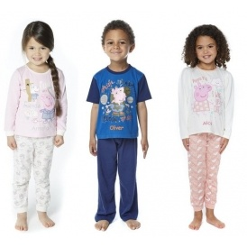 Peppa & George Pig Personalised Pyjamas